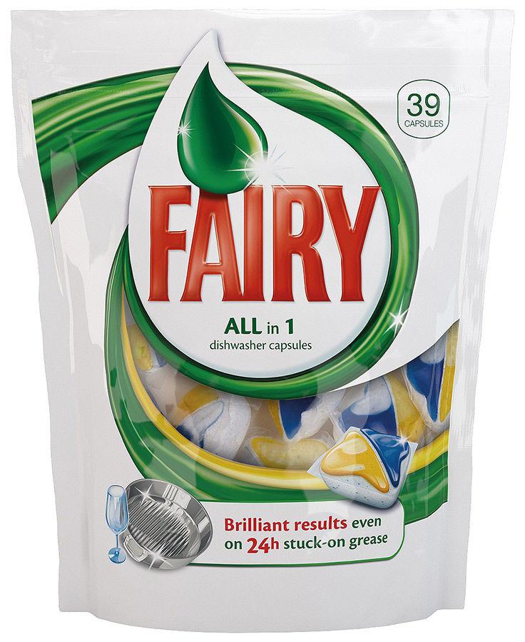 Средство для мытья посуды FAIRY All-in-1,  39шт, для посудомоечных машин [80232599]