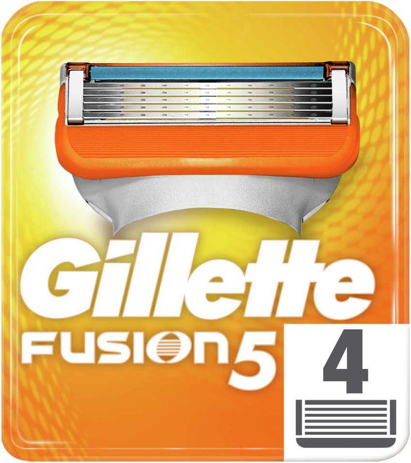 Сменные кассеты для бритья GILLETTE Fusion,  4 шт.