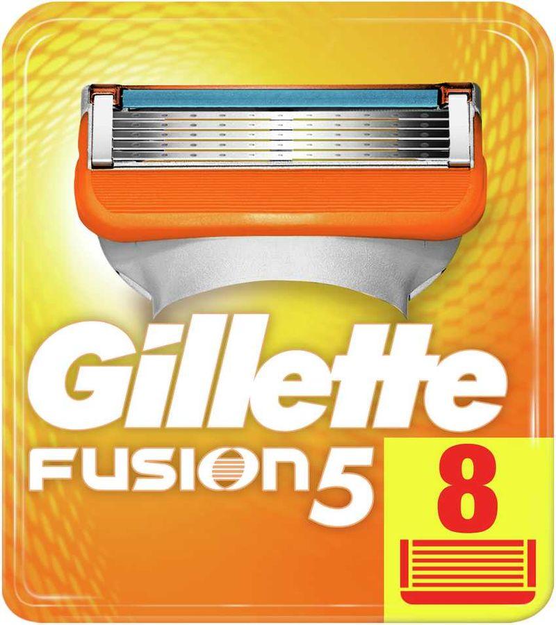 Сменные кассеты для бритья GILLETTE Fusion, 8 шт. [81372253]
