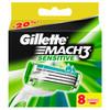 Сменные кассеты для бритья GILLETTE Mach3 Sensitive, 8 шт. [80227857] вид 1