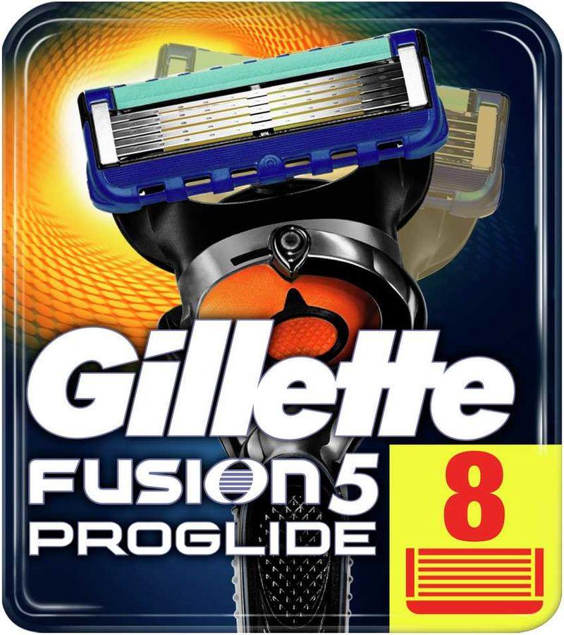 Сменные кассеты для бритья GILLETTE Fusion ProGlide,  8шт