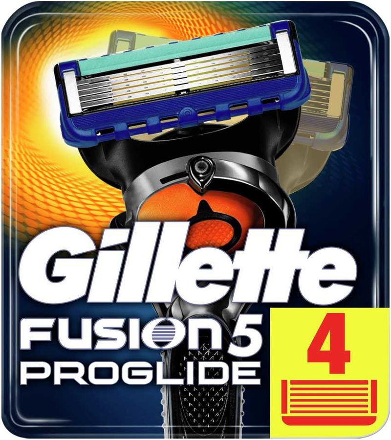 Сменные кассеты для бритья GILLETTE Fusion ProGlide, 4шт [81469905]