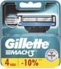 Сменные кассеты для бритья GILLETTE Mach3,  4шт [80227851] вид 2