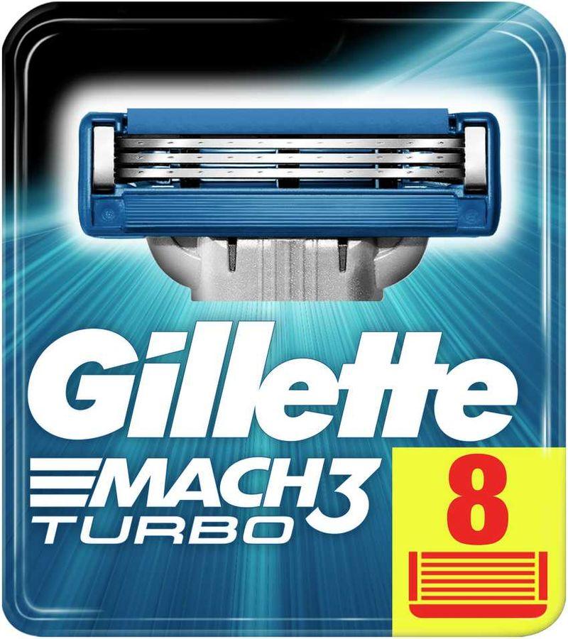 Сменные кассеты для бритья GILLETTE Mach3 Turbo, 8шт [80226354]