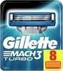 Сменные кассеты для бритья GILLETTE Mach3 Turbo, 8шт [80226354] вид 1