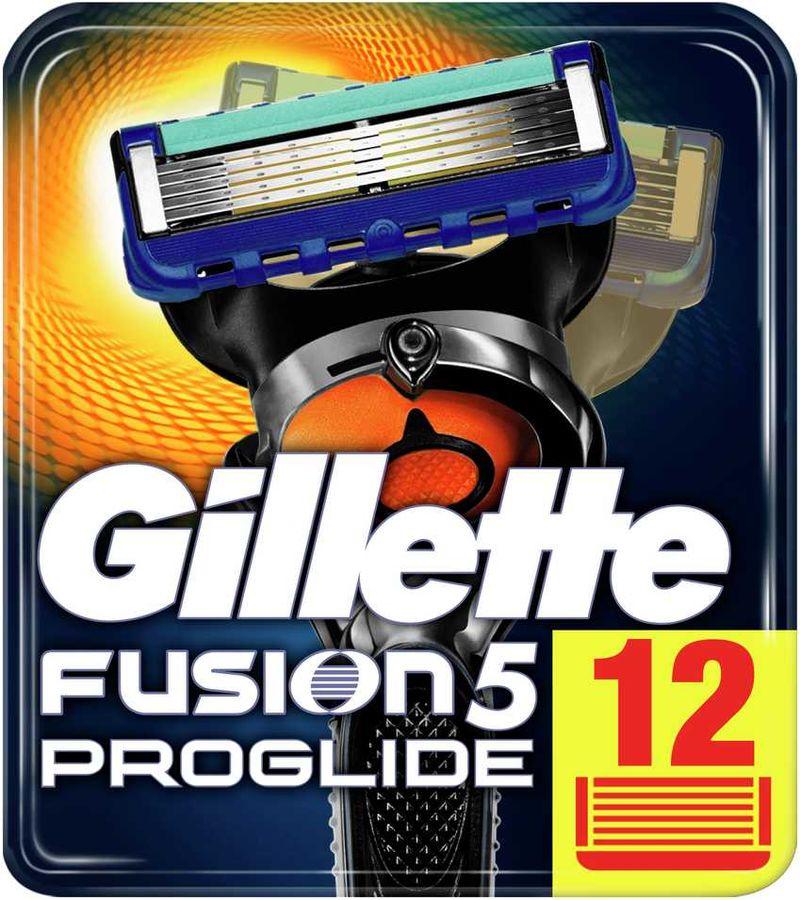 Сменные кассеты для бритья GILLETTE Fusion ProGlide,  12 шт. [81424007]