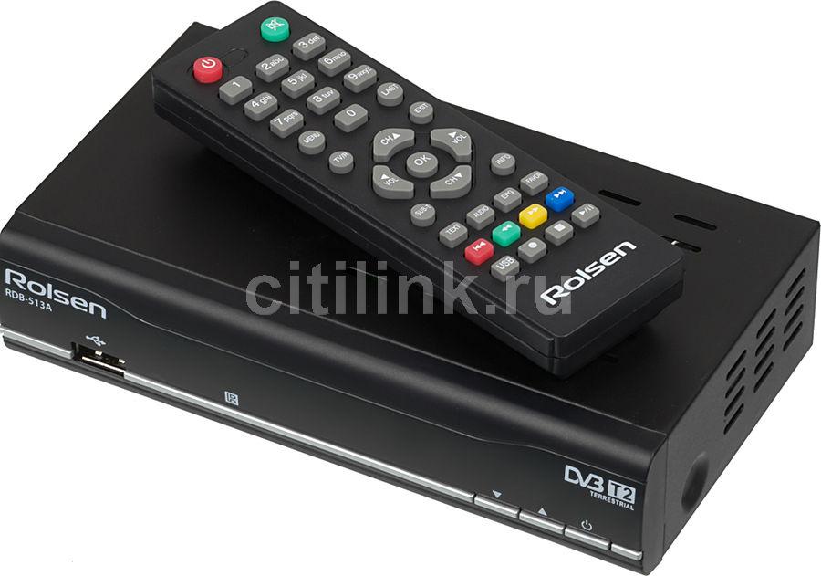 Ресивер DVB-T2 ROLSEN RDB-513A,  черный [1-rldb-rdb-513a]