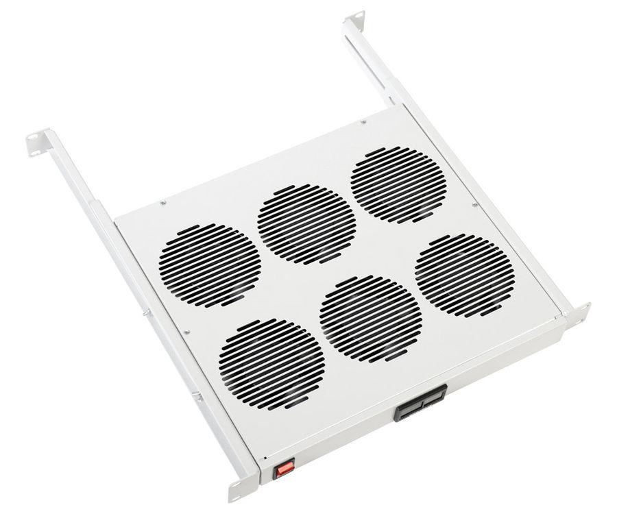 Блок 6-и вентиляторов ЦМО 1U регул. глубина 390-750 мм с контроллером черный (МВ-400-6К-9005)
