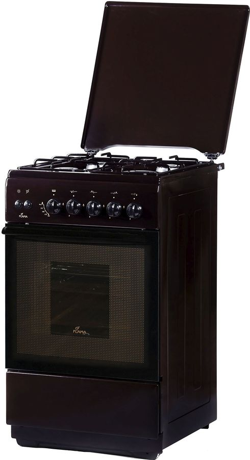 Газовая плита FLAMA FG 2426 B,  газовая духовка,  коричневый [fg 2426 w/в]