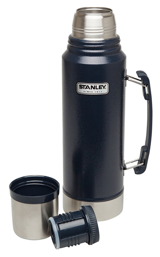 Термос STANLEY Classic Vacuum, 1л, темно-синий/ серебристый