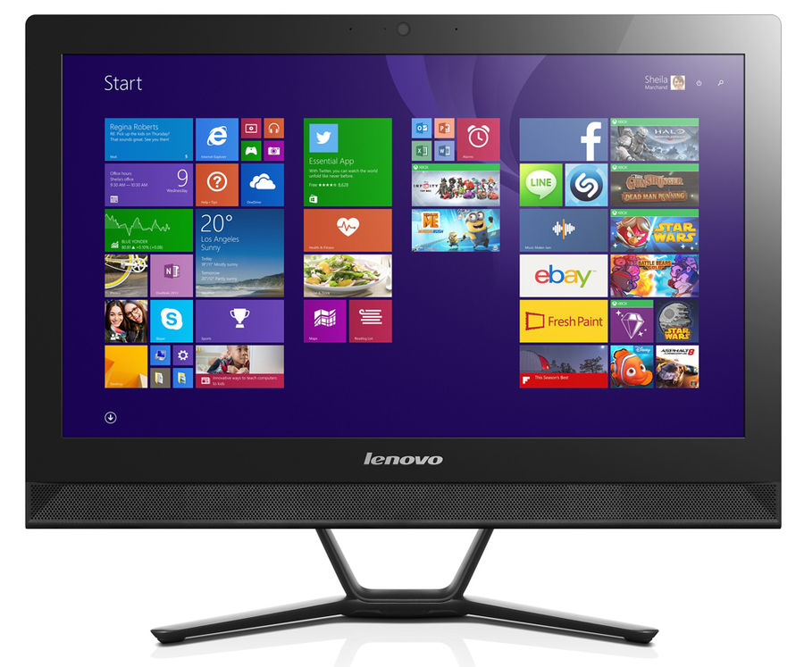 Моноблок LENOVO C40-30, Intel Pentium 3825U, 4Гб, 1000Гб, nVIDIA GeForce 820 - 2048 Мб, DVD-RW, Windows 10, черный [f0b400twrk]