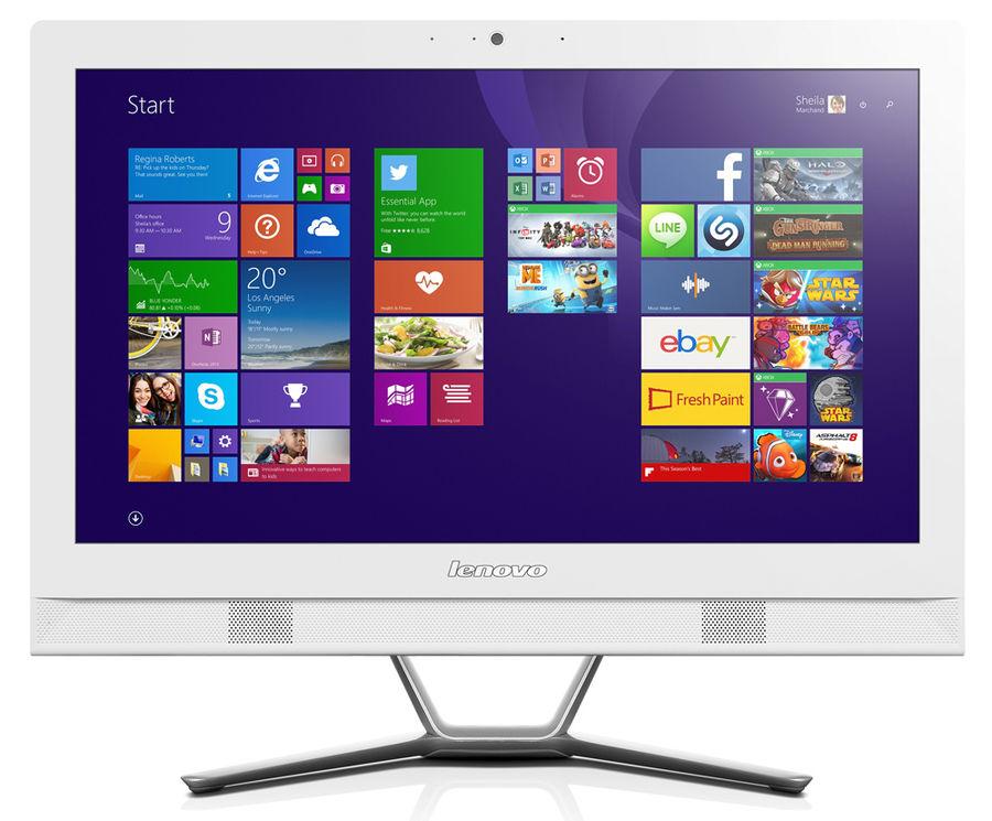 Моноблок LENOVO C40-30, Intel Pentium 3825U, 4Гб, 1000Гб, nVIDIA 820 - 2048 Мб, DVD-RW, Windows 10, белый [f0b400txrk]