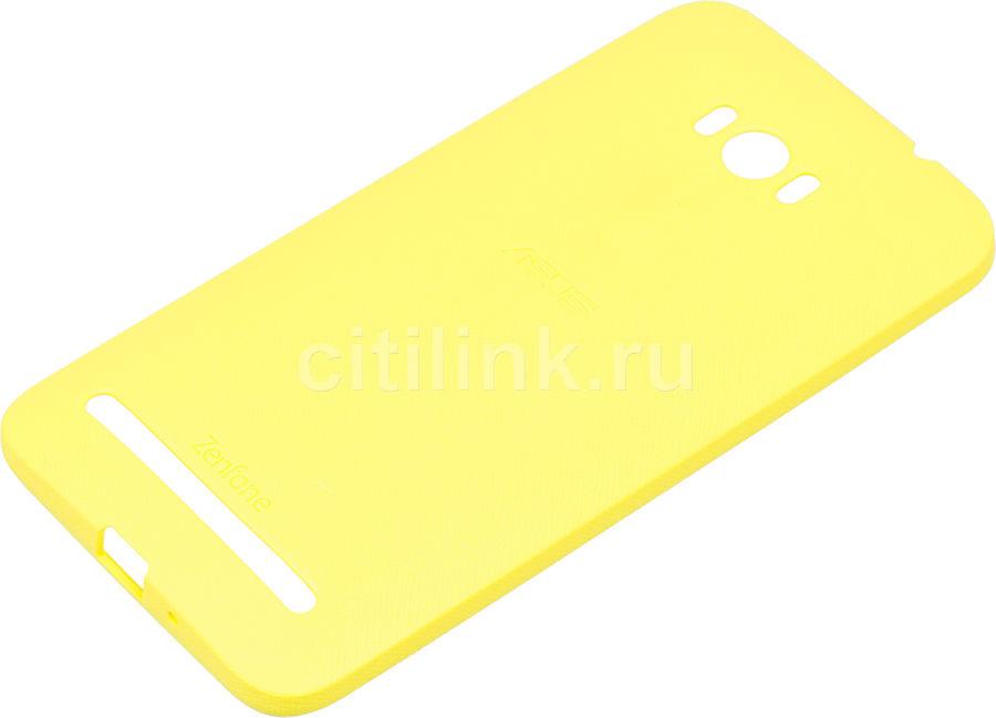 Чехол (клип-кейс) ASUS PF-01, для Asus ZenFone Selfie ZD551KL, желтый [90xb00ra-bsl370]