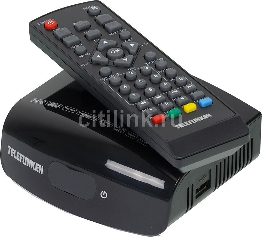 Ресивер DVB-T2 TELEFUNKEN TF-DVBT209,  черный [tf-dvbt209(черный)]