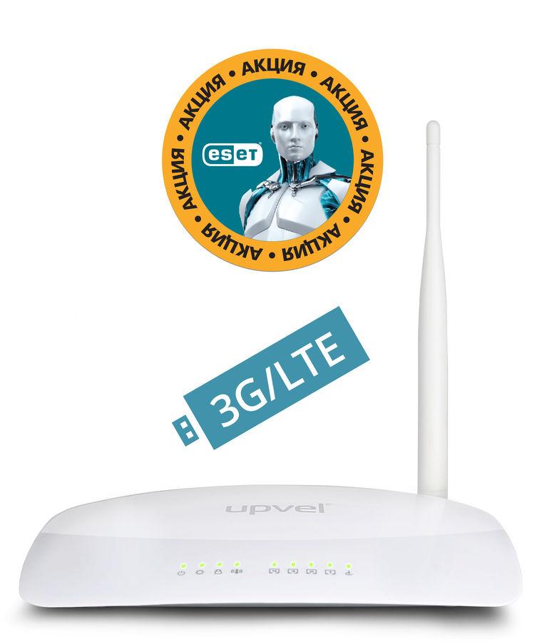 Беспроводной маршрутизатор UPVEL UR-316N4G + ESET NOD32 3мес,  белый [ur-316n4g arctic_citilink]