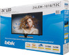 "LED телевизор BBK 24LEM-1016/T2C  ""R"", 24"", HD READY (720p),  черный вид 12"