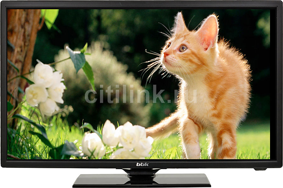 "LED телевизор BBK 24LEM-1016/T2C  ""R"", 24"", HD READY (720p),  черный"