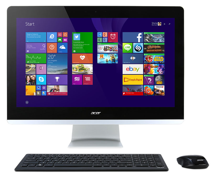 Моноблок ACER Aspire ZC-700, Intel Celeron N3150, 2Гб, 500Гб, Intel HD Graphics, DVD-RW, Windows 10 Home, черный [dq.szcer.001]