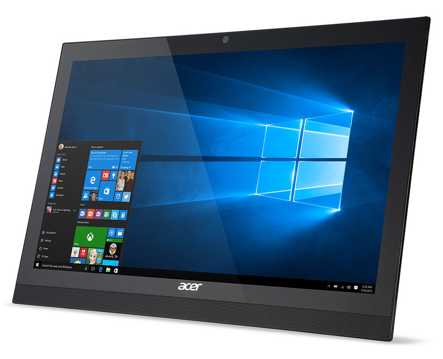 Моноблок ACER Aspire Z1-623, Intel Core i3 4005u, 6Гб, 1000Гб, nVIDIA GeForce 940M - 2048 Мб, DVD-RW, Windows 10 Home, черный [dq.szxer.009]