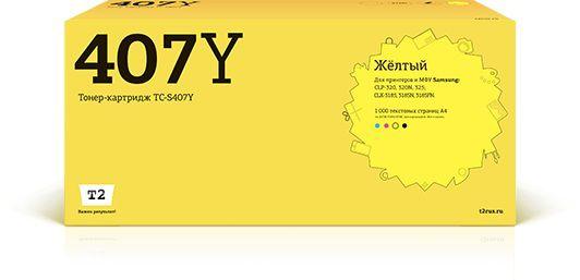 Картридж T2 TC-S407Y, CLT-Y407S, желтый