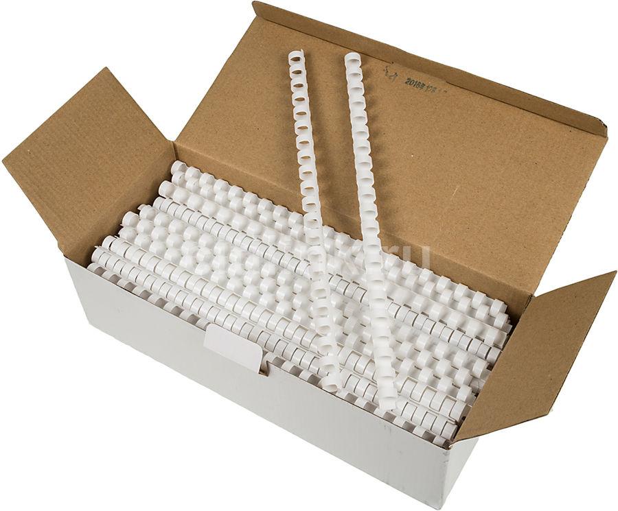 Пружина пластиковая FELLOWES CRC-53462,  12мм,  56 - 80 листов,  A4,  100,  белый