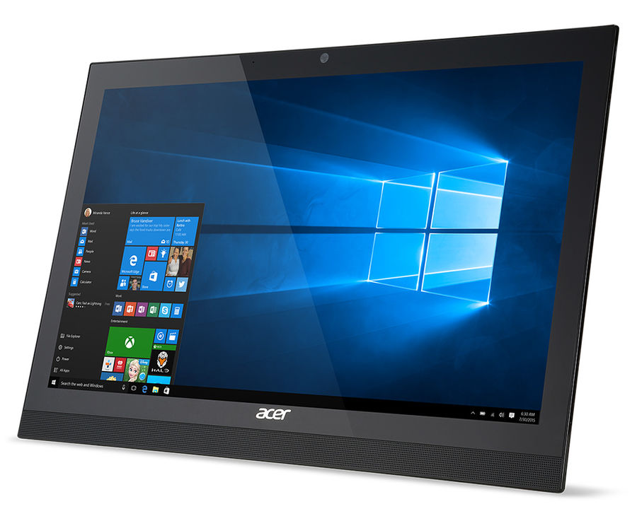 Моноблок ACER Aspire Z1-622, Intel Celeron N3150, 2Гб, 500Гб, Intel HD Graphics, DVD-RW, Windows 10 Home, черный [dq.sz8er.008]