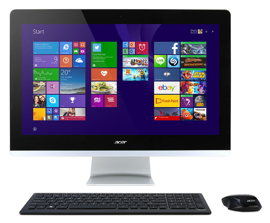 Моноблок ACER Aspire Z3-710, Intel Core i3 4170t, 4Гб, 1000Гб, nVIDIA GeForce 840M - 2048 Мб, DVD-RW, Windows 10 Home, черный [dq.b04er.008]