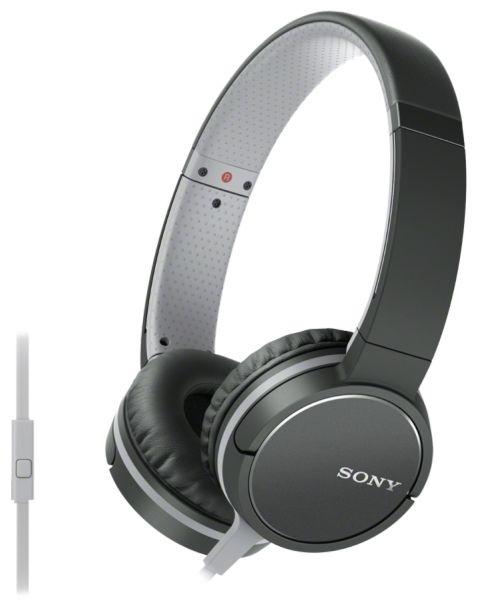 Наушники с микрофоном SONY MDR-ZX660AP, 3.5 мм, накладные, черный [mdrzx660apb.e]