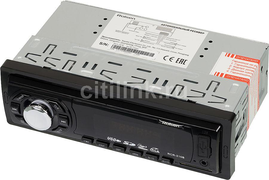 Автомагнитола ROLSEN RCR-210B,  USB,  SD/MMC