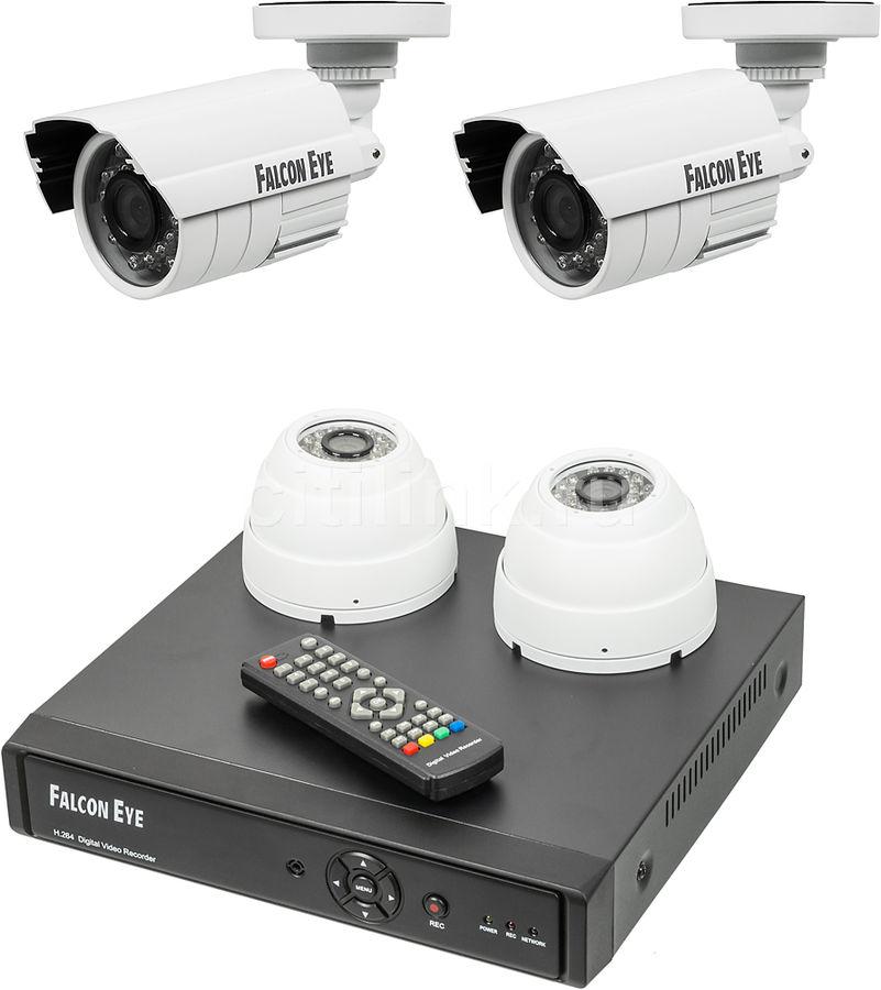 Комплект видеонаблюдения Falcon Eye FE-104AHD-KIT Офис (отремонтированный)
