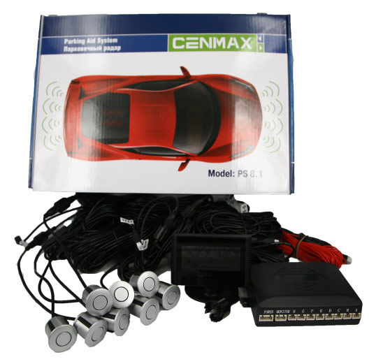 Парковочный радар CENMAX РS-8.1,  серебристый [рs-8.1 silver]