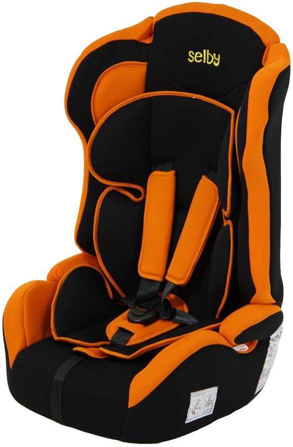 Автокресло детское SELBY LC-2315, 1/2/3, оранжевый/черный [827199]