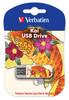 Флешка USB VERBATIM Store n Go Mini Tattoo Koi 16Гб, USB2.0, белый и рисунок [49886] вид 1