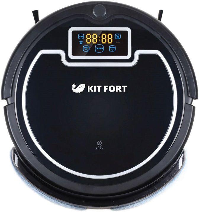 Робот-пылесос KITFORT КТ-503, 25Вт, черный/белый