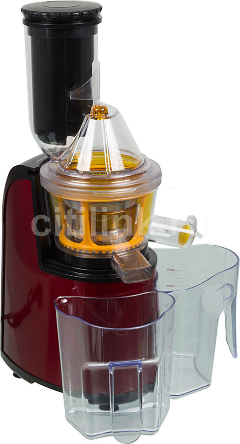Соковыжималка KITFORT КТ-1102-2,  шнековая,  бордовый и черный