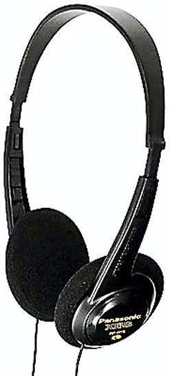 Наушники PANASONIC RP-HT6E-K, накладные,  черный, проводные