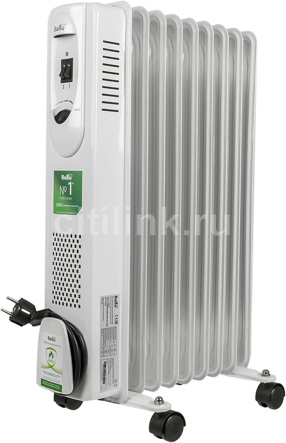 Масляный радиатор BALLU Comfort BOH/CM-09WDN, 2000Вт, белый