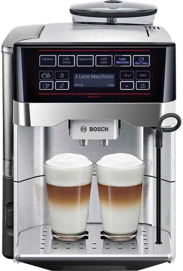 Кофемашина BOSCH TES60729RW,  черный/серебристый