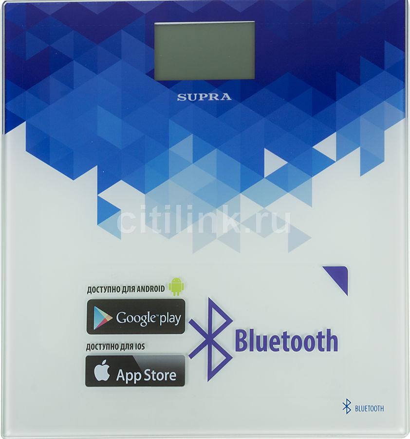 Напольные весы SUPRA BSS-6000, до 150кг, цвет: синий/белый [6944]