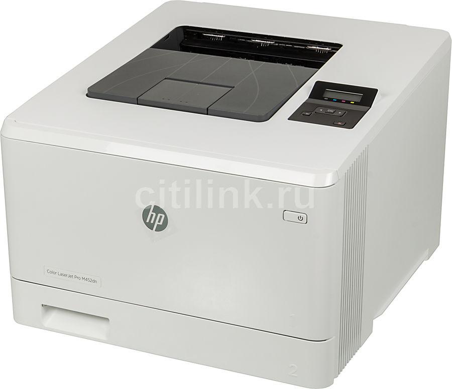 Принтер HP Color LaserJet Pro M452dn лазерный, цвет:  белый [cf389a]
