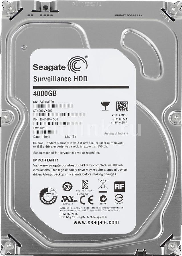 Жесткий диск SEAGATE Surveillance ST4000VX000,  4Тб,  HDD,  SATA III,  3.5