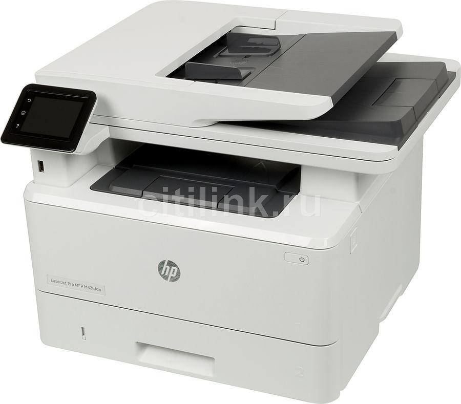 МФУ лазерный HP LaserJet Pro M426fdn RU,  A4,  лазерный,  серый [f6w17a]