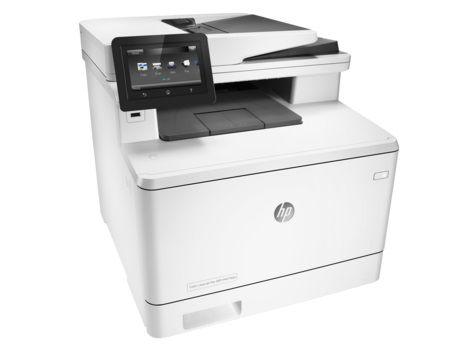 МФУ HP Color LaserJet Pro M477fdw,  A4,  цветной,  лазерный,  белый [cf379a]
