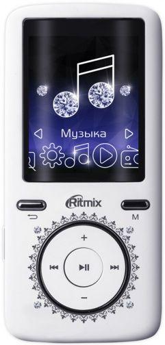 MP3 плеер RITMIX RF-4750 flash 8Гб белый [15117983]