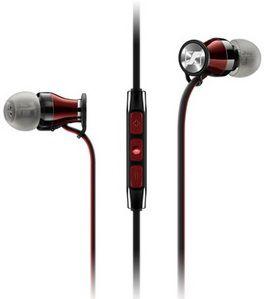Наушники с микрофоном SENNHEISER MOMENTUM In-Ear M2 IEi,  вкладыши, красный  / черный [506231]