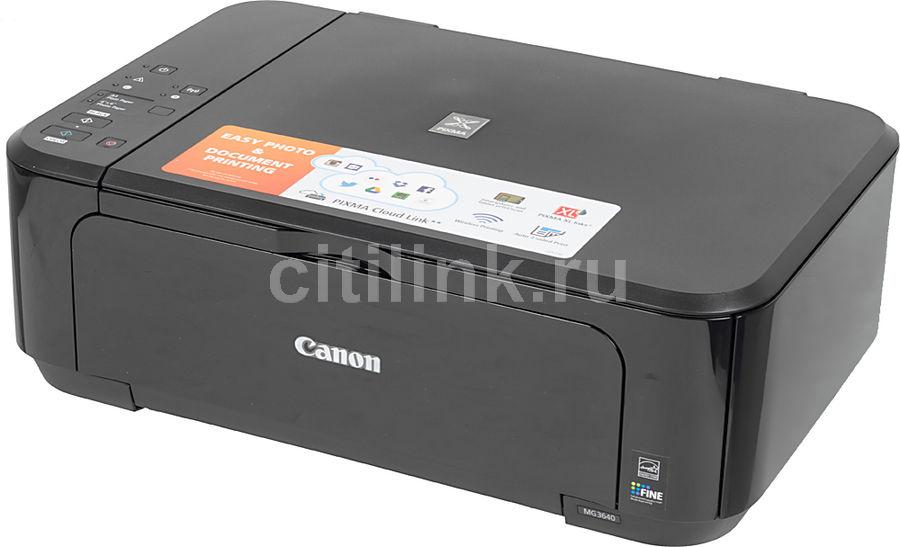 МФУ CANON PIXMA MG3640, A4, цветной, струйный, черный [0515c007]