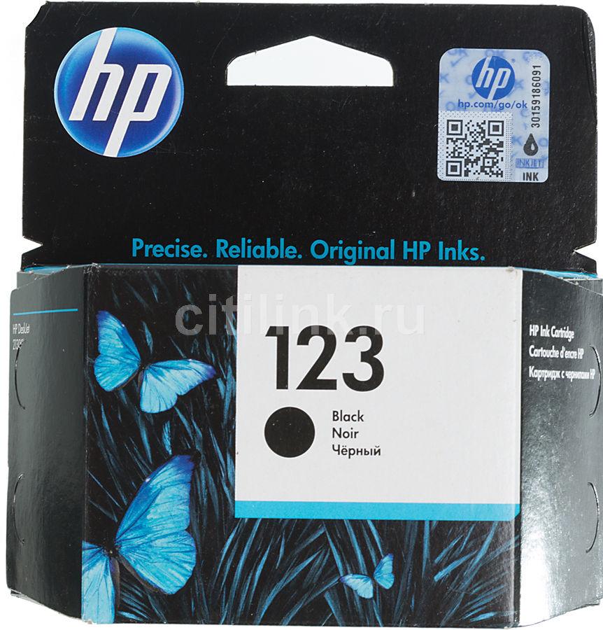 Картридж HP 123, черный [f6v17ae]