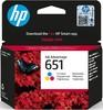 Картридж HP 651 C2P10AE,  черный вид 1