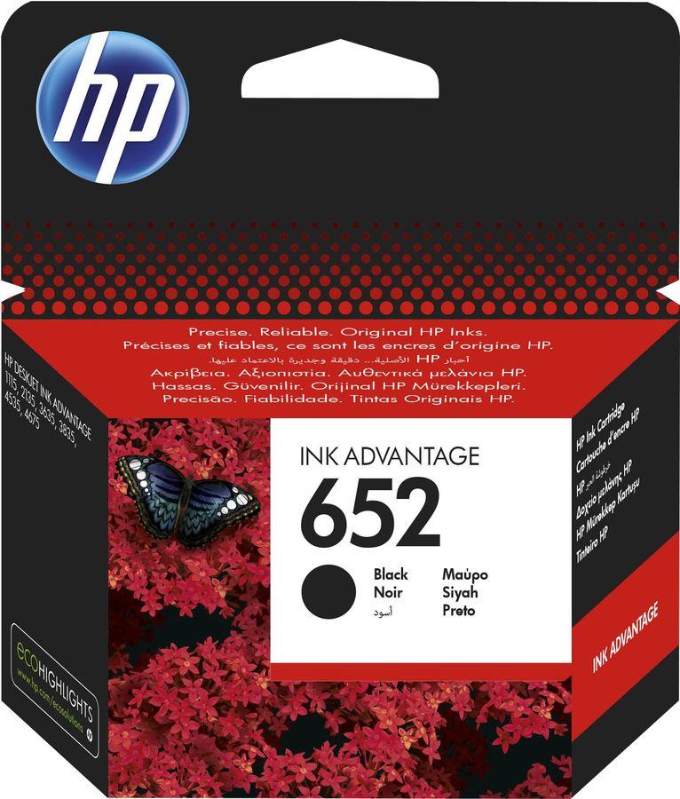 Картридж HP 652 F6V25AE,  черный
