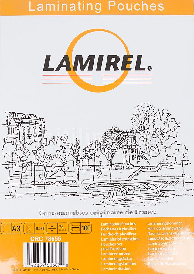 Пленка для ламинирования FELLOWES Lamirel,  75мкм,  100шт.,  A3